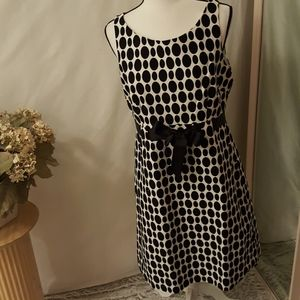 Jessica Howard blk-wht polka dot dress sz 14